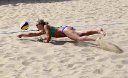 Kazakhstan team  tsimbalova diving save Royalty Free Stock Photos