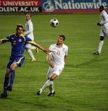 Kazakhstan v Inghilterra Fotografie Stock