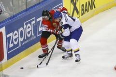 Kazakhstan vs. Hungary IIHF World Championship ice hockey match Royalty Free Stock Photos