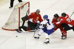Kazakhstan vs. Hungary IIHF World Championship ice hockey match Stock Photography