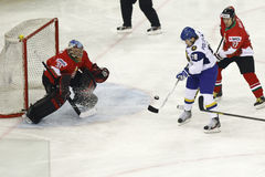 Kazakhstan vs. Hungary IIHF World Championship ice hockey match Stock Photo