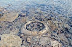 kazakhstan wschodni brzeg jeziorny skalisty obraz stock