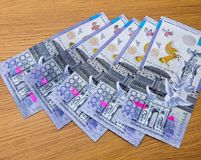Kazakhstani tenge banknoty Zdjęcie Royalty Free