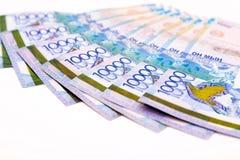 Kazakhstani tenge banknoty Fotografia Royalty Free
