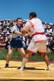 Kazaksha kyres - the national wrestling in Kazakhstan Royalty Free Stock Image