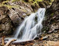 kazakstan山掸人tien瀑布 图库摄影