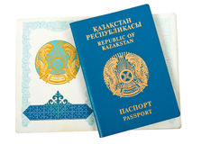 kazakstan护照共和国 免版税库存图片