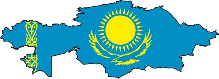 kazakstan映射 库存照片
