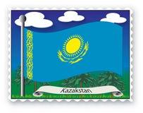 kazakstan stämpel Royaltyfria Foton
