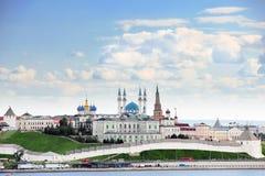 Kazan, Δημοκρατία της Ταταρίας, Ρωσία Άποψη Kazan Κρεμλίνο Στοκ Εικόνα