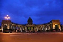kazan καθεδρικών ναών νύχτα Πετρ Στοκ Φωτογραφίες