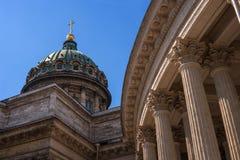 Kazan καθεδρικός ναός - καθεδρικός ναός του Kazan εικονιδίου της μητέρας του Θεού γέφυρα okhtinsky Πετρούπολη Ρωσία Άγιος Στοκ φωτογραφία με δικαίωμα ελεύθερης χρήσης