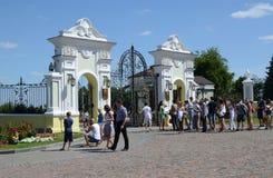 Kazan Κρεμλίνο, η πύλη του προεδρικού παλατιού Στοκ εικόνες με δικαίωμα ελεύθερης χρήσης