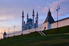 Kazan Κρεμλίνο, μουσουλμανικό τέμενος Kul Σαρίφ Στοκ φωτογραφίες με δικαίωμα ελεύθερης χρήσης