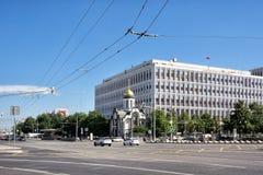 Kazan παρεκκλησι στην πλατεία Kaluzhskaya στη Μόσχα, Ρωσία στοκ εικόνα με δικαίωμα ελεύθερης χρήσης