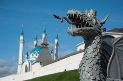 Kazan πρωτεύουσα της Δημοκρατίας της Ταταρίας Στοκ Φωτογραφίες