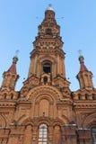 kazan Ρωσία εκκλησιών κουδουνιών epiphany πύργος Στοκ εικόνες με δικαίωμα ελεύθερης χρήσης