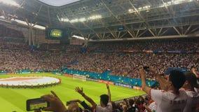 Kazan, Ρωσία - 20 Ιουνίου 2018: Παγκόσμιο Κύπελλο 2018 της FIFA - Kazan στάδιο χώρων - αντιστοιχία iram-Ισπανία - απόδοση πριν απ απόθεμα βίντεο