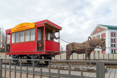 Kazan, Ρωσία - 28 Μαρτίου 2017 μνημείο στο άλογο-laborer Petrushka, το οποίο ελειτούργησε στο horse-drawn σιδηρόδρομο Στοκ εικόνες με δικαίωμα ελεύθερης χρήσης