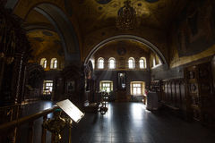 Kazan, Ρωσία, στις 9 Φεβρουαρίου 2017, μοναστήρι Zilant - μέσα στη χριστιανική εκκλησία - Ορθόδοξη Εκκλησία στην ηλιόλουστη ημέρα Στοκ εικόνα με δικαίωμα ελεύθερης χρήσης