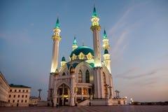 Kazan, Ρωσία - το Σεπτέμβριο του 2017 Μουσουλμανικό τέμενος Kul Σαρίφ που εξισώνει την άποψη στοκ εικόνες
