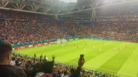 KAZAN, ΡΩΣΙΑ - 20 Ιουνίου 2018: Παγκόσμιο Κύπελλο 2018 της FIFA - Kazan στάδιο χώρων - αντιστοιχία Ιράν-Ισπανία - πρώτος στόχος απόθεμα βίντεο