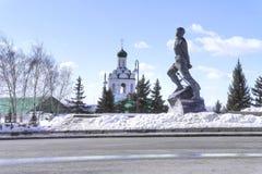 kazan Квадрат 1-ого мая Памятник Musa Jalil стоковые изображения rf