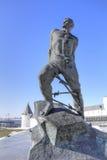 kazan Памятник Musa Jalil стоковое фото
