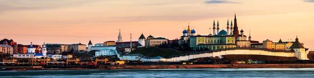 kazan Россия Вид с воздуха Кремля в зиме стоковая фотография rf