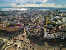Kazan. Aerial view center of city at Grand Hotel Royalty Free Stock Photography