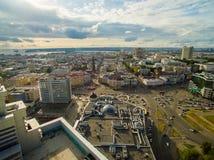Kazan. Aerial view center of city at Grand Hotel Royalty Free Stock Photo