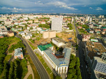Kazan. Aerial view center of city at Grand Hotel Stock Photography