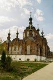 Kazan Amvrosievsky öknar (på shamordinokloster i den Kaluga regionen av Ryssland Royaltyfri Foto