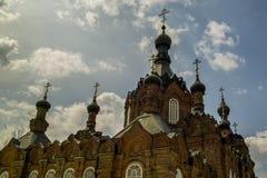 Kazan Amvrosievsky öknar (på shamordinokloster i den Kaluga regionen av Ryssland Royaltyfria Foton