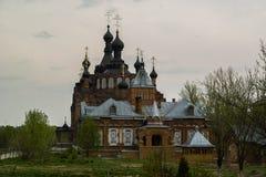 Kazan Amvrosievsky öknar (på shamordinokloster i den Kaluga regionen av Ryssland Arkivbilder