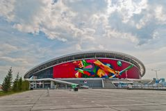 Kazan-arena do estádio de futebol Imagens de Stock Royalty Free
