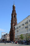 Kazan, Bauman Street, Campanile Church of the Epiphany Royalty Free Stock Images