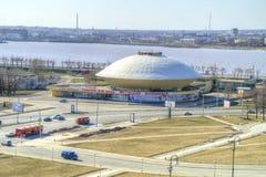 Kazan. Building of circus. KAZAN, RUSSIA - April 18.2010: Modern building of municipal circus Stock Photos