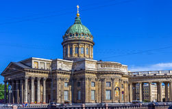 Kazan Cathedral or Cathedral of Our Lady of Kazan. On Nevsky Prospect in St. Petersburg, Russia Stock Photo