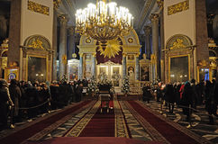 Kazan Cathedral in the Christmas holiday Stock Images