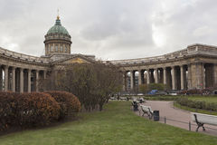 Kazan Cathedral in city St. Petersburg royalty free stock photos