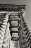 Kazan Cathedral colonnade in St Petersburg, Russia. St Petersburg architecture background in sepia tones Royalty Free Stock Image