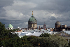 Kazan Cathedral dome in Saint Peterburg Stock Photography