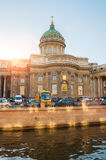 Kazan cathedral and Griboedov channel in St Petersburg, Russia Stock Photography