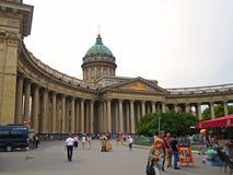 Kazan Cathedral or Kazanskiy Kafedralniy Sobor Stock Photography