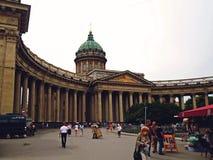 Kazan Cathedral or Kazanskiy Kafedralniy Sobor Stock Photos