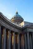 Kazan Cathedral or Kazanskiy Kafedralniy Sobor in the Saint Pete Stock Photos