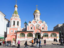 Kazan Cathedral, Moscow Stock Photography