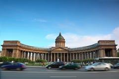 Kazan Cathedral on Nevsky Prospect Royalty Free Stock Image