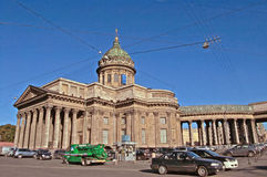 Kazan Cathedral on Nevsky Prospekt in St. Petersburg, Russia Stock Images